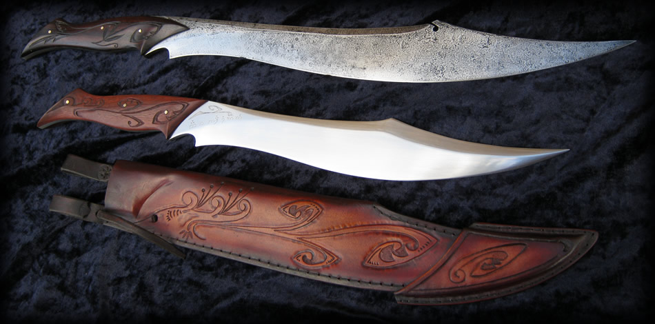Mar Ná Sinomë Striders Elvish Knife Of Aragorn Lotr Custom Elf